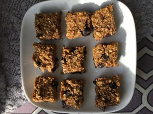 Blueberry Quinoa Breakfast Bars by Marie Tower at MarieTower.com