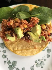 Mexican Quinoa Wraps by Marie Tower at MarieTower.com