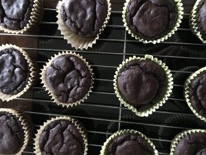 Chocolate Protein Muffins by Marie Tower at MarieTower.com
