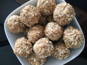 Honey Coconut Energy Balls by Marie Tower at MarieTower.com