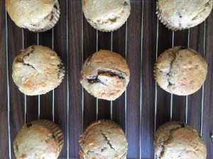 Banana Oatmeal Muffins (flour free) by Marie Tower at MarieTower.com