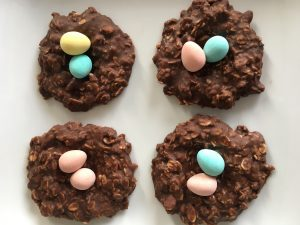 No Bake Healthy Chocolate Peanut Butter Nests by Marie Tower at MarieTower.com