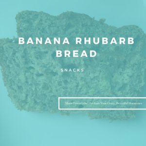 Banana Rhubarb Bread by Marie Tower at MarieTower.com