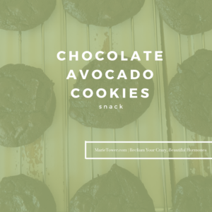 CHOCOLATE AVOCADO COOKIES by Marie Tower at Marietower.com