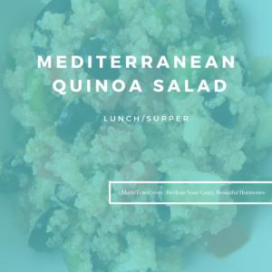 Mediterranean Quinoa Salad by Marie Tower at MarieTower.com
