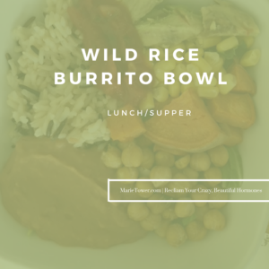 Wild Rice Burrito Bowls by Marie Tower at MarieTower.com