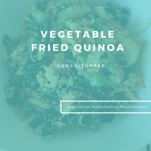 Vegetable Fried Quinoa by Marie Tower at MarieTower.com