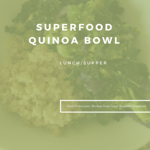 Superfood Quinoa Bowl by Marie Tower at MarieTower.com