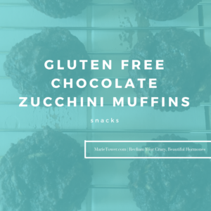 GLUTEN FREE CHOCOLATE ZUCCHINI MUFFINS by Marie Tower at Marietower.com