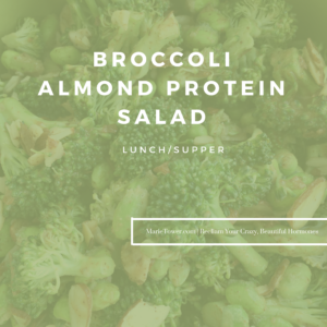 Broccoli Almond Protein Salad by Marie Tower at MarieTower.com