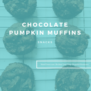 Chocolate Pumpkin Muffins by Marie Tower at MarieTower.com