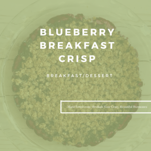 Blueberry Breakfast Crisp by Marie Tower at MarieTower.com