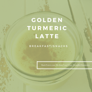 Golden Turmeric Latte by Marie Tower at MarieTower.com