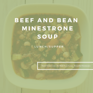 Beef and Bean Minestrone Soup by Marie Tower at MarieTower.com
