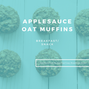 Applesauce Oat Muffins by Marie Tower at MarieTower.com