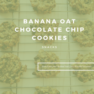 Banana Oat Chocolate Chip Cookies by Marie Tower at MarieTower.com