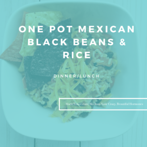 One Pot Mexican Black Beans & Rice by Marie Tower at MarieTower.com
