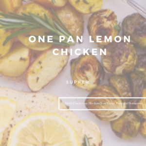 One Pan Lemon Chicken by Marie Tower at MarieTower.com