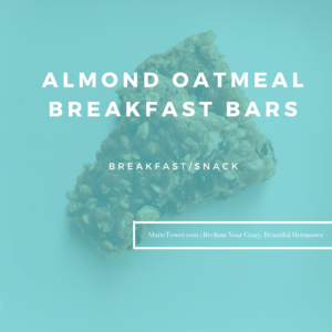 Almond Oatmeal Breakfast bars by Marie Tower at MarieTower.com
