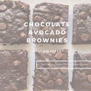 Chocolate Avocado Brownies by Marie Tower at MarieTower.com