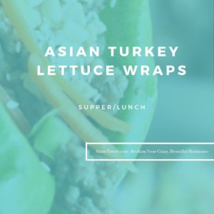 Asian Turkey Lettuce Wraps by Marie Tower at MarieTower.com