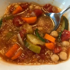 Vegetable Quinoa Soup by Marie Tower at MarieTower.com