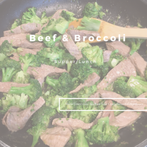 Beef and Broccoli by Marie Tower at MarieTower.com