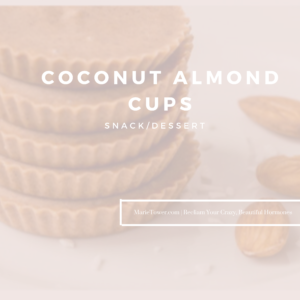 Coconut Almond Cups by Marie Tower at MarieTower.com