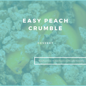 Easy Peach Crumble by Marie Tower at MarieTower.com