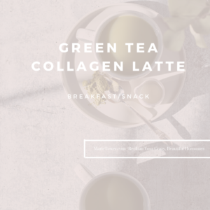 Green Tea Collagen Latte by Marie Tower at MarieTower.com