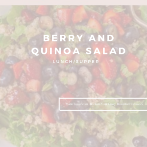 Berry & Quinoa Salad by Marie Tower at MarieTower.com
