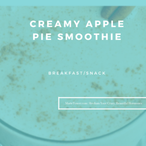 Creamy Apple Pie Smoothie by Marie Tower at MarieTower.com