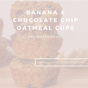 Banana & Chocolate Chip Oatmeal Cups by Marie Tower at MarieTower.com