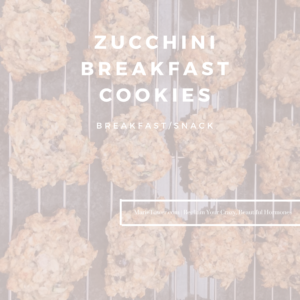 Zucchini Breakfast Cookies by Marie Tower at MarieTower.com
