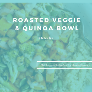 Roasted Veggie & Quinoa Bowl by Marie Tower at MarieTower.com