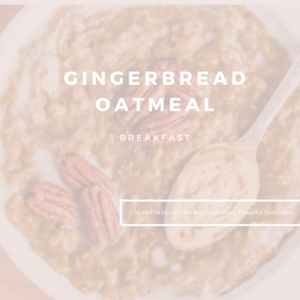 Gingerbread Oatmeal by Marie Tower at MarieTower.com