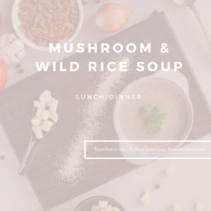 Mushroom & Wild Rice Soup by Marie Tower at MarieTower.com