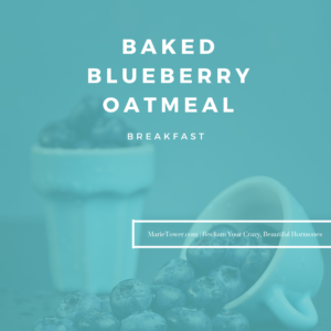 Baked blueberry oatmeal by Marie Tower at MarieTower.com
