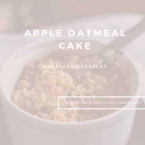 Oatmeal Apple Cake by Marie Tower at MarieTower.com