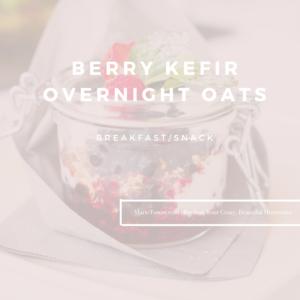 Berry Kefir Overnight Oats by Marie Tower at MarieTower.com