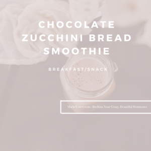 Chocolate Zucchini Bread Smoothie by Marie Tower at MarieTower.com