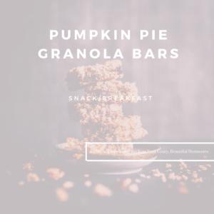 Pumpkin Pie Granola Bars by Marie Tower at MarieTower.com