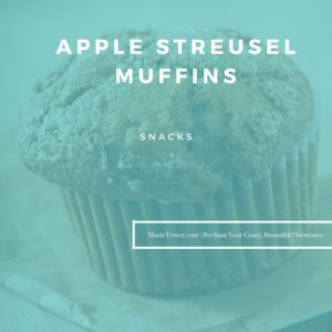 Apple Streusel Muffins by Marie Tower at MarieTower.com